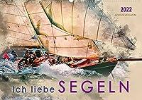 Ich liebe Segeln (Wandkalender 2022 DIN A2 quer): Sonne, Wind und Wellen bis zum Horizont. (Monatskalender, 14 Seiten )