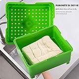PopHMN Tofu Press Maker, Kit De Caja De Drenaje De Tofu Diy, Herramientas Prácticas De Cocina Para Cocinar En Casa, 3 Capas
