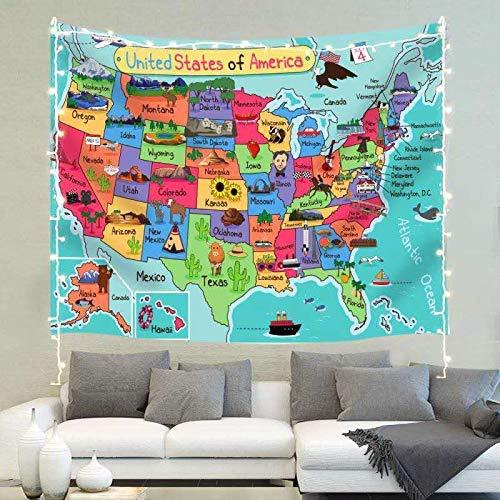 Mapa azul y mapa de Estados Unidos