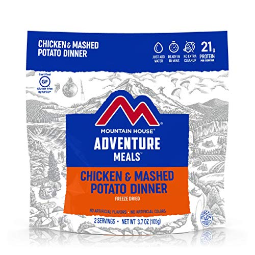 Mountain House Chicken & Mashed Potato Dinner | Freeze Dried Backpacking & Camping Food | 2 Servings | Gluten-Free