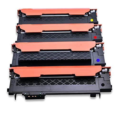 KATRIZ 4 stuks vervanging voor CLT-K404S CLT-C404S CLT-Y404S CLT-M404S tonercartridge compatibel met Samsung SL C430W C480W C480FN C480FW C430W C432W C433W C482W C482FW C483W C483FW