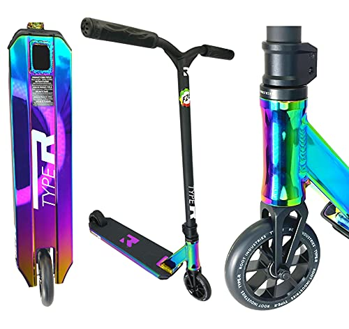Root Industries R-Type Stunt-Scooter H= 82,5mm Park Trick Tret Roller + Fantic26 Sticker (Rainbow Neochrome)