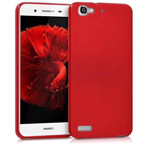 kwmobile Funda Compatible con Huawei GR3 / P8 Lite Smart - Carcasa de TPU Silicona - Protector Trasero en Rojo Mate
