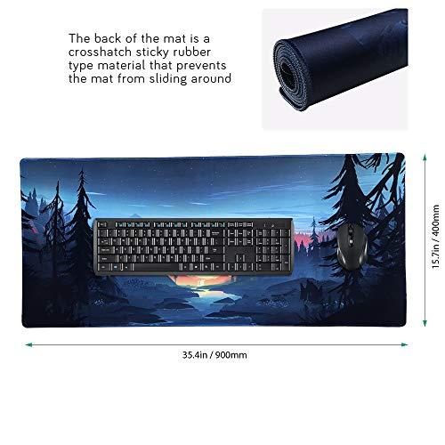 Beyme Gaming Mauspad XXL, Verlängertes Große Mouse Mat mit Wasserdicht Rutschfeste für PC, Computer und Laptop- 900 x 400 x 2 mm