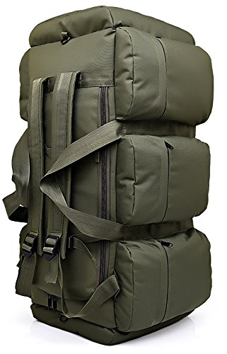 90L Large Capacity Outdoor Mountaineering Bag Moving Luggage Camping Tent Camouflage Backpack , Army Green
