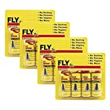 UPMSX Sticky Fly Trap Ribbon, Sticky Fly Trap, Fly Paper Strips, Indoor/Outdoor Fly Catcher - Pack of 16