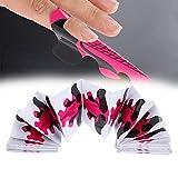 100pcs ongles formes pour extension d'ongle UV constructeur Builder polonais plateau de papier gel Nail Art accessoire accessoire de manucure