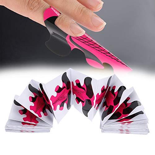 100 stücke Nagelformen für Nagelverlängerung Builder Polnischen Gel Papier Tray Nail art Maniküre für künstliche Fingernagel Nagel Kunst spitzt Verlängerungs Werkzeug