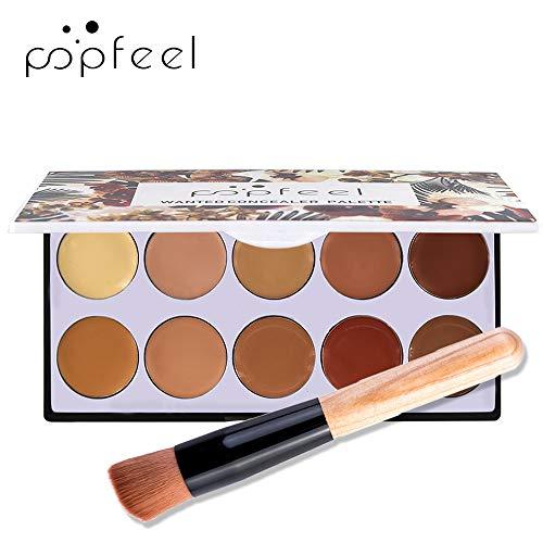Anself 10 Couleurs Maquillage Visage Correcteur Poudre Longue Durée Étanche Camouflage Correcteur Palette Cosmétiques