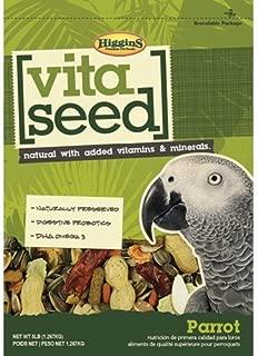 Higgins Vita Seed Natural Mix Parrot Food for Large Birds & Parrots 5 lb bag, Fast, by Just Jak's Pet Market