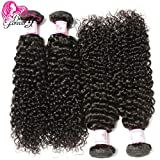 Beauty Forever Curly Hair Brazilian Virgin Remy Curly Hair Weave 4 Bundles 100% Unprocessed Human Virgin Remy Hair Extensions Natural Color (100+/-5g)/ Pc (18 20 22 24)