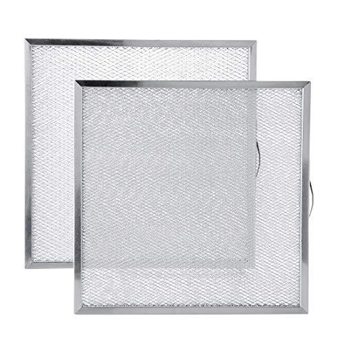 Livtor 99010316 Aluminium-Fettfilter für Dunstabzugshaube, 28,8 x 29,5 x 0,9 cm, kompatibel mit Broan S99010316, NTK7450000, 990721400A, 2 Packungen)