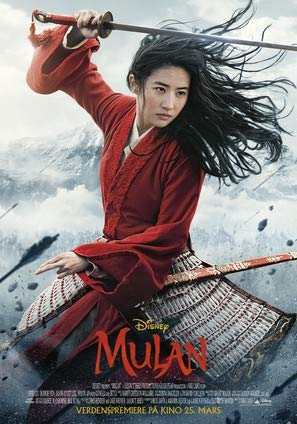 Mulan (2020) – norwegisch Film Poster Plakat Drucken Bild - 43.2 x 60.7cm Größe Grösse Filmplakat Disney