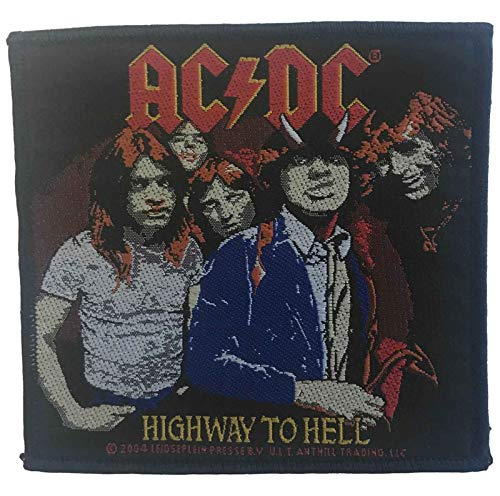 AC/DC patch Highway to Light Band Logo nieuw officieel 10 cm x 10 cm sew on