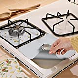 Max Home 4 Pcs/Set Gas Hob Liner Stovetop Cover Reusable Burner Protector Kitchen Accessories Cleaning Tools