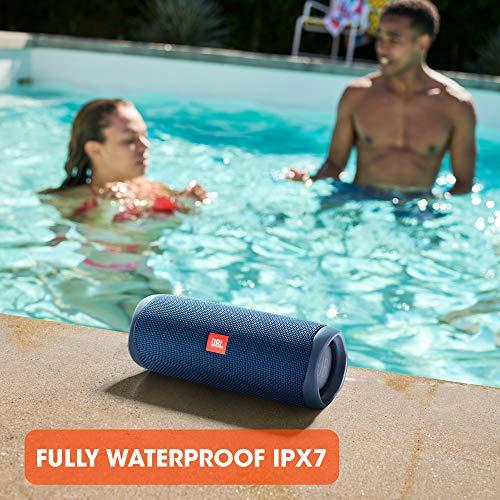 JBL Flip 5 - Altavoz inalámbrico portátil con Bluetooth, speaker resistente al agua (IPX7), JBL PartyBoost, hasta 12h de reproducción con sonido de calidad, azul