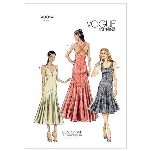 VOGUE PATTERNS V8814 - Patrones de Costura para Vestidos de Mujer (Tallas 42 a 50)
