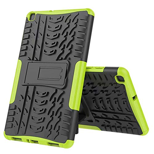 Nieuwe Tablet Case voor Samsung Tab ONE 8.0 inch 2019 T290 T295 T297 Back Cover 2 in 1 Silicon zachte harde Stand Armor Heavy Rugged case Groen