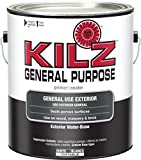 KILZ General Purpose Exterior Latex Primer/Sealer, White, 1 Gallon