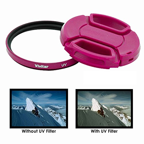 49mm Pink UV Filter for Sony Digital Cameras That Have Any Of These Sony Lenses 18-55mm DT E-mount, 55-210mm, 16mm f/2.8, 20mm f2.8 EMOUNT, 24mm f1.8, FE 28mm f2 Lens, 30mm f2.8, 30mm f3.5, 35mm f/1.8
