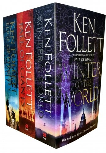 Ken Follett Century Trilogy War Stories Collection 3 Books Set (Fall of Giants, Winter of the World , Edge of Eternity)