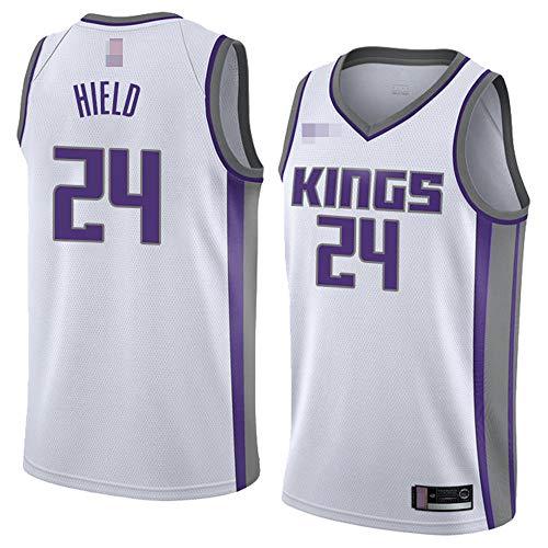 LYY Hombres Jersey, NBA Sacramento Kings # 24 Buddy Hield, Uniformes De Baloncesto Camisetas De Deporte Sin Mangas Clásicas Y Camisetas Cómodas,Blanco,S(165~170CM)
