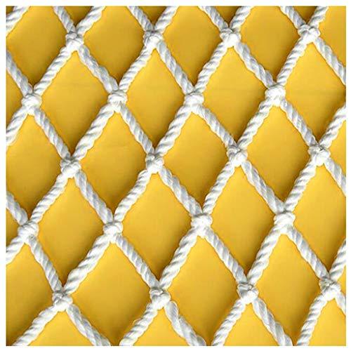 Filet de Protection Nylon Filet de Sécurité Filet de sécurité blanc, Filet anti-chute pour balcon escalier intérieur enfants, Filet de pont suspendu extérieur, Filet de clôture de jardin, Filet d'esca