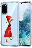 Oihxse Funda Compatible con Samsung Galaxy S8 Plus Ultra Delgada Ligera Transparente Silicona TPU Gel Suave Carcasa Elegante Patrón Anti-Rasguño Protector Caso-Pato