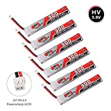 Gaoneng 6pcs 300mAh HV 1S Lipo Battery FPV Battery 30C 3.8V with JST-PH 2.0 Powerwhoop Connector for Eachine UZ65 US65 Tiny Whoop Drone Blade Inductrix