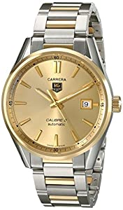 TAG Heuer Men's WAR215A.BD0783 Carrera Analog Display Swiss Automatic Two Tone Watch image