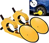 VEVOR 2PCS Wheel Lock Clamp Boot Adjustable Tire Lock Anti-Theft Wheel Lock Parking Boot Claw Tire Clamp Wheel Lock for Car, Truck, UTV, ATV Parking, with Maximum Width of 11 Inch