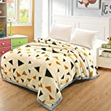 Envío Doble de grosor manta de tejido de manta peluche en otoño y el invierno, Single y doble manta para adultos estudiantes dormitorio, Triangle, 4kg 200cmx230cm