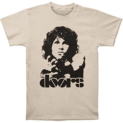 Unbekannt The Doors Break on Through T-Shirt, Beige (Beige-Beige (Sand), M Uomo
