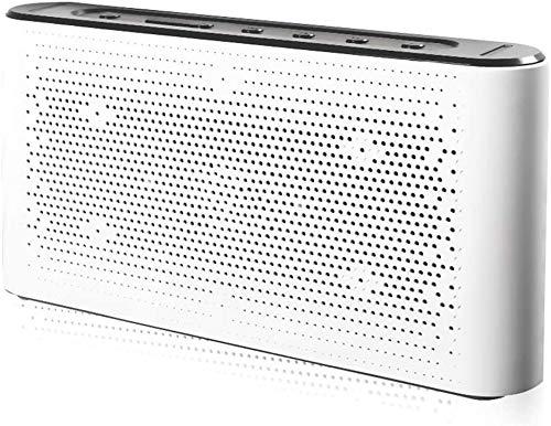 Mopoq Bluetooth-Lautsprecher - Wireless-Subwoofer-Auto-Karte Tragbare Telefon Computer im Freien Startseite Kleinen Lautsprechern Lautsprecher (Color : Weiß)