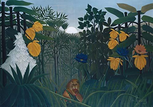 Le Repast du Lion par Henri Julien Rousseau. 100% peint à la main. Reproduction de haute qualité. Livraison gratuite (non encadrée et non étirée). Taille de la peinture: 132,1x91,4 cm.