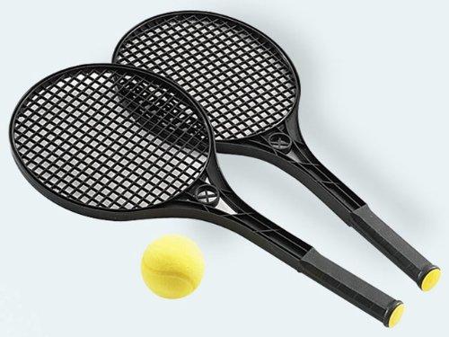 ADRIATIC 54 cm Giocattoli da Spiaggia Racchette da Tennis in Confezione Net (Nero), Colore Black, A64