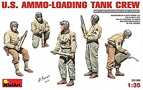 Miniart 1 35 Scale US Ammo-Loading Crew Plastic Model Kit (grau) by Miniart