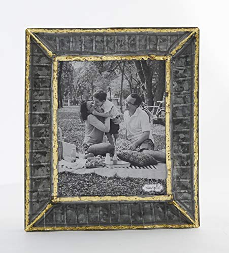 Tin Ribbed Picture Frame