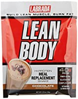 Labrada Nutrition Lean Body Hi-Protein Meal Replacement Shake, Chocolate Ice Cream, 2.78-Ounce Packets, 20-Count by Unknown