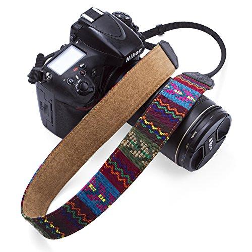 GOIN Camera Strap Retro Vintage Neck Shoulder Belt Strap VNS Soft Safety Tether Multi-color Neck Wrist Strap for Canon Nikon Olympus Fuji Pentax Panasonic Sony Camera and DSLR Camera(Vintage-1328)