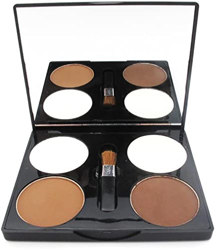 new arrival Mallofusa wholesale Four Color Compact outlet online sale Powder Palette Pressed Powder Makeup Shimmer Grooming 0.564 oz online sale