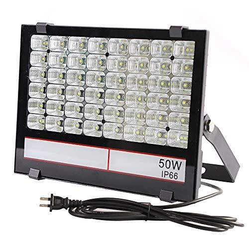 <グレードアップ>超薄型・超高輝度 LED投光器 50W 500W相当 昼光色 5000LM AC85~265V 優れた放熱性 安全...