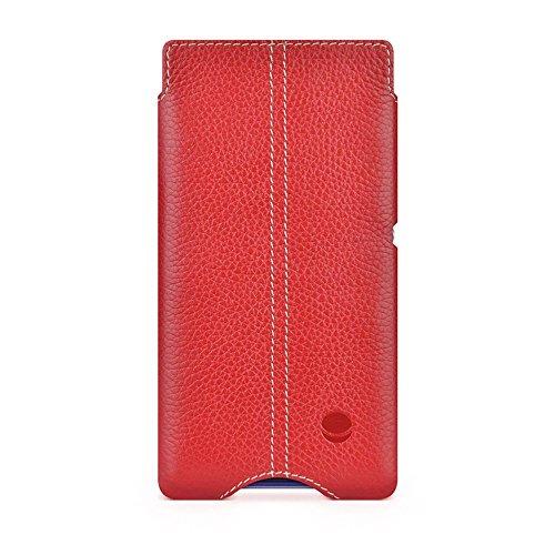 BeyzaCases - Custodia a Tasca Zero, in Pelle, per Tablet Sony Xperia Z2, Colore Rosso