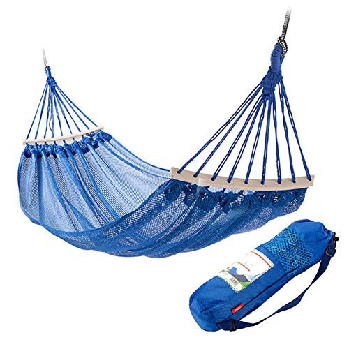 ZXL Lichte hangmat, ademend en koel, anti-rolgordijn, draagbare schommel-camping-hangmat voor reizen en buitenshuis of in tuinen en om te wandelen, 200 x 120 cm