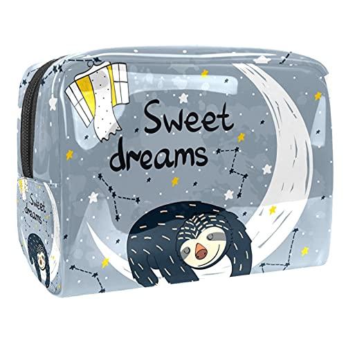 Sloth Sweet Dream Bolsa de maquillaje para monedero, organizador de viaje portátil para artículos de tocador, bolsa de belleza impermeable Sloth Sweet Dream Bolsas de cosméticos para mujeres