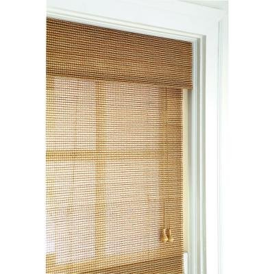Home Decorators Collection Natural Multi-Weave Bamboo Roman Shade - 34 in. W x 72 in. L