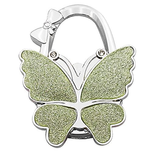 Sinknap Ganchos De La Cartera del Bolso De La Aleación De La Mariposa Plegable De La Suspensión del Bolso Portátil para El Monedero De Las Mujeres Verde