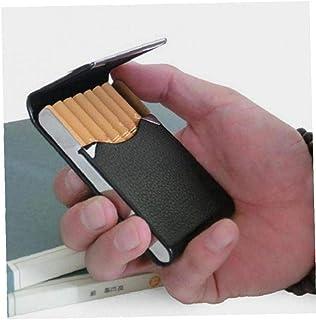 Hotaden 1pc Alluminio Cigar portasigarette Tabacco Pocket Storage Box Contenitore in Acciaio Inossidabile Pu Carta Fumator...