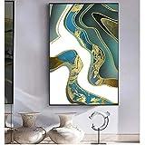YuanMinglu Carteles e Impresiones Lienzo Arte Pinturas murales Modernas abstractas imágenes de mármol líquido Cuadros sin Marco para Sala de Estar decoración del hogar 40x60cm