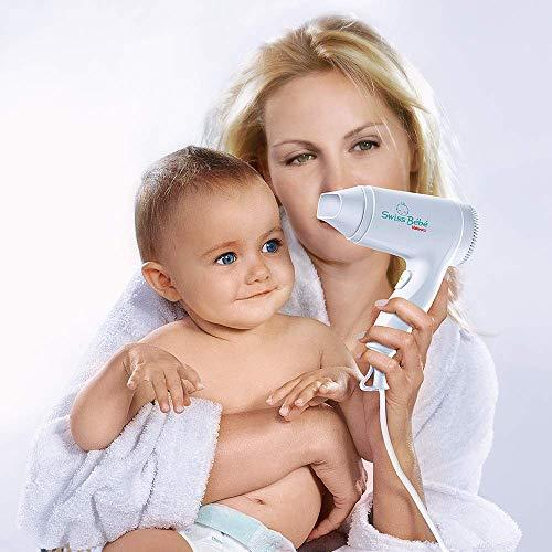 Valera Swiss Bebé - Secador de 500 W, muy delicado, con sistema de temperatura segura, color blanco